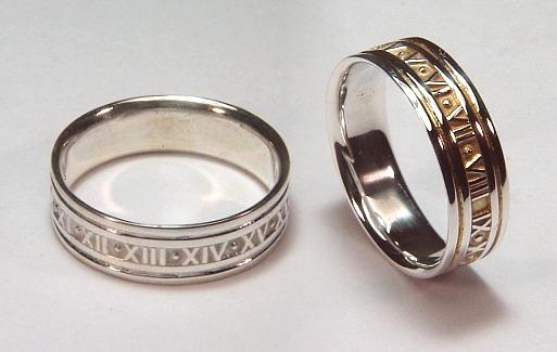 Roman style wedding bands