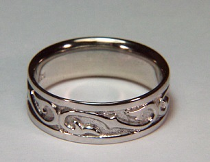 Scroll rings wedding