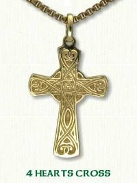 4 Heart Celtic Cross