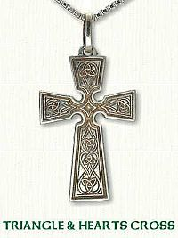 Celtic Triangle & Hearts Cross