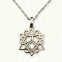 3 Heart Star of David