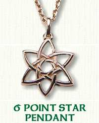 Pierced 6 point star pendant