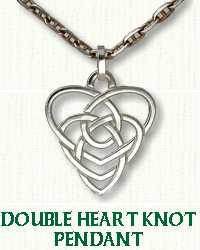 Pierced Double Heart Knot Pendant