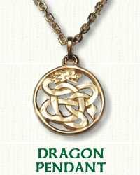 14KY Pierced Dragon Pendant