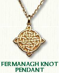 14KY Fermanagh Knot Pendant