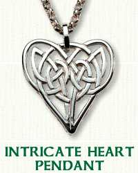 Intricate Heart Knot Pendant