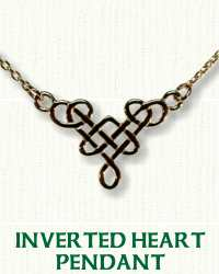 Inverted Heart Knot Necklace