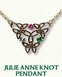 Inverted Julie Anne Necklace with Gemstones