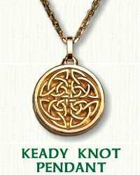 14KY Solid Keady Knot Pendant