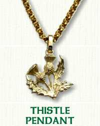 Thistle Pendant in 14kt yellow gold