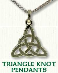 Celtic Triangle Knot with Circle Pendant
