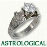 Unique Astrology engagement rings
