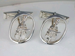 Violin Cuff Links 1 inch size