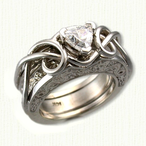 Celtic Adare Knot Reverse Cradle Engagmemnt Rings deSignet