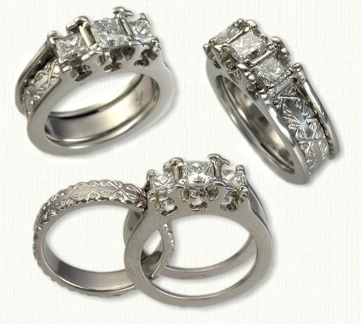 Talons Reverse Cradle Engagement Rings |deSignet International
