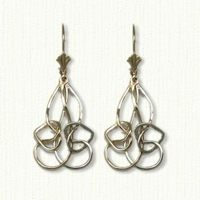 Linked Heart Knot Earring