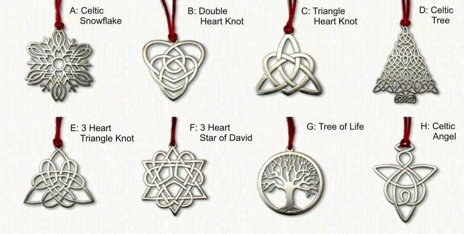 unique celtic ornaments celtic gifts designet international jb55 - Metal Christmas Decorations